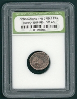 Constantine The Great Era Roman Empire Coin from 330 AD (INB Encapsulated) at PristineAuction.com