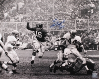 """Frank Gifford Signed Giants 16x20 Photo Inscribed """"HOF 77"""" (Leaf COA) at PristineAuction.com"""