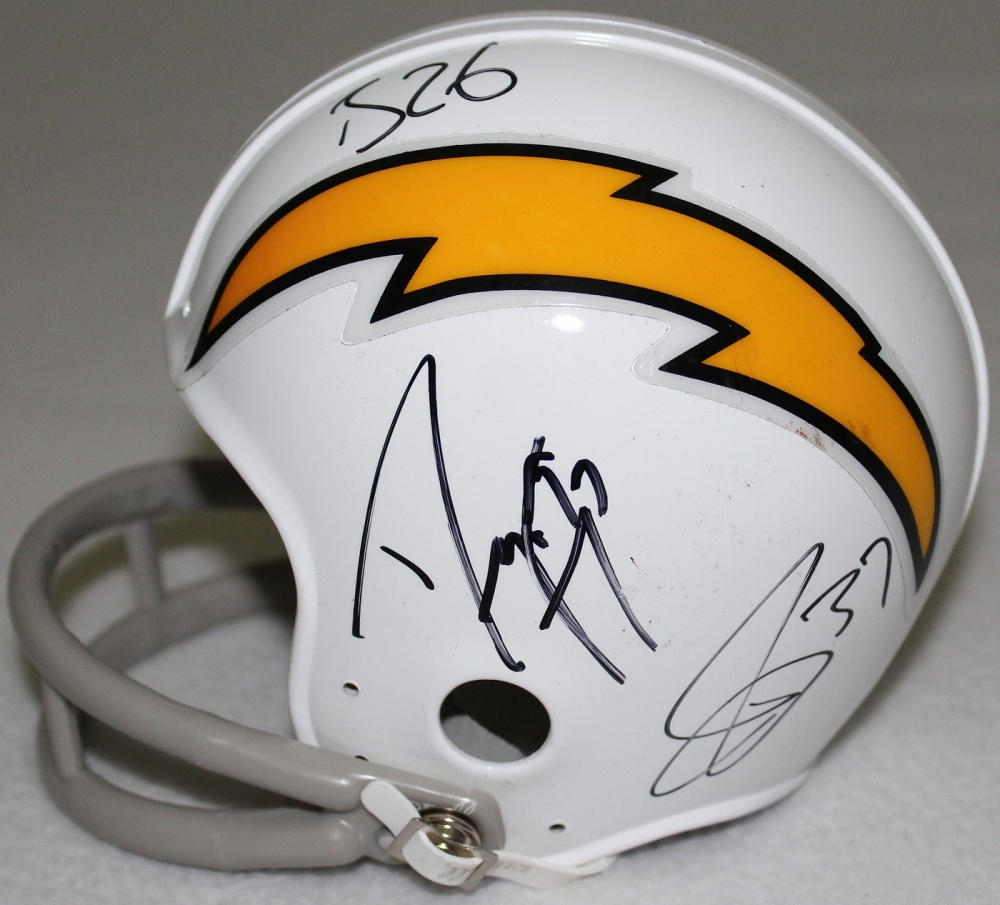 Chargers Mini Helmet Chargers Mini-helmet Signed by