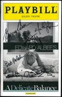 "Edward Albee's ""A Delicate Balance"" 2014 Playbill Magazine Signed by Bob Balaban, Glenn Close, Martha Plimpton, John Lithgow, Lindsay Duncan, & Clare Higgins (Danny's Graphs COA) at PristineAuction.com"