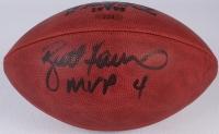 """Brett Favre Signed Official 1995 NFL Favre MVP Game Ball Inscribed """"MVP"""" (JSA COA) at PristineAuction.com"""