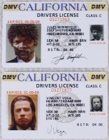 "Jules Winnfield & Vincent Vega ""Pulp Fiction"" Drivers License Movie Prop Replicas at PristineAuction.com"