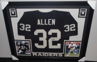 """Marcus Allen Signed Raiders 35"""" x 43"""" Custom Framed Jersey (JSA COA) at PristineAuction.com"""