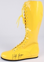 Hulk Hogan Signed Wrestling Boot (Schwartz COA) at PristineAuction.com