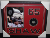 Andrew Shaw Signed 17x21 Shadowbox Hockey Puck Display (Wholesale Sports Daily COA) at PristineAuction.com