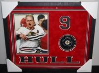 "Bobby Hull Blackhawks 17x21x2 Shadowbox Signed Hockey Puck Display Inscribed ""HOF 1983"" (Wholesale Sports COA) at PristineAuction.com"