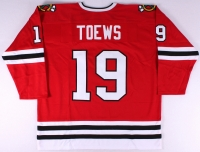 Jonathan Toews Blackhawks On-Ice Style Custom Stitched Jersey (Size XL) at PristineAuction.com