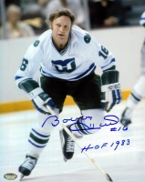 "Bobby Hull Signed Whalers 8x10 Photo Inscribed ""HOF 1983"" (Schwartz COA) at PristineAuction.com"