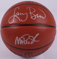 Magic Johnson & Larry Bird Signed Basketball (PSA COA) at PristineAuction.com