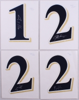 Lot of (4) Brewers Signed Authentic Jersey Numbers With Corey Hart, Rickie Weeks, Bill Hall, & Mike Cameron (PA LOA) at PristineAuction.com
