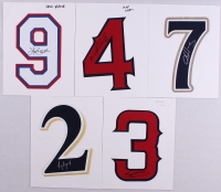 Lot of (5) Bruins Signed Authentic Baseball Jersey Numbers With Brandon Wood, Hank Blalock, Mike Napoli (PA LOA) at PristineAuction.com