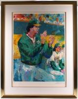 Tony La Russa & LeRoy Neiman Signed LE Athletics 40x50 Custom Framed Serigraph (JSA ALOA) at PristineAuction.com