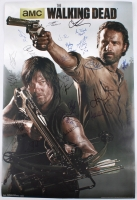 """""""The Walking Dead"""" 22x34 Poster Signed by (23) with Andrew Lincoln, Steven Yeun, Chandler Riggs, Norman Reedus, Lauren Cohan, Chad Coleman, Melissa McBride, Emily Kinney, Danai Gurira, Scott Wilson, Laurie Hold (JSA LOA) at PristineAuction.com"""