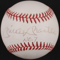 """Mickey Mantle Signed OAL Baseball Inscribed """"No. 7"""" (PSA LOA) at PristineAuction.com"""