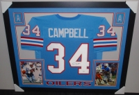 Earl Campbell Signed Oilers 35x43 Custom Framed Jersey (JSA COA) at PristineAuction.com