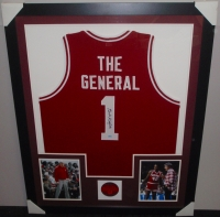 Bobby Knight Signed Indiana 35x43 Custom Framed Jersey (Schwartz COA) at PristineAuction.com