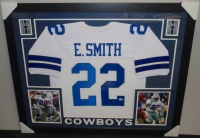 "Emmitt Smith Signed Cowboys 35"" x 43"" Custom Framed Jersey (PSA COA) at PristineAuction.com"