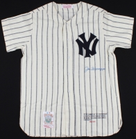 Joe Dimaggio Signed Yankees LE Custom Stitched Jersey (JSA LOA) at PristineAuction.com