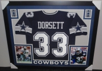 Tony Dorsett Signed Cowboys 35x43 Custom Framed Jersey (JSA COA) at PristineAuction.com