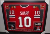 Patrick Sharp Signed Blackhawks 35x43 Custom Framed Jersey (JSA COA) at PristineAuction.com