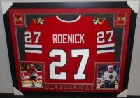 Jeremy Roenick Signed Blackhawks 35x43 Custom Framed Jersey (JSA) at PristineAuction.com