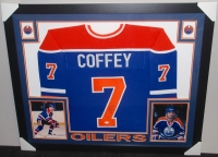 Paul Coffey Signed Oilers 35x43 Custom Framed Jersey (JSA) at PristineAuction.com