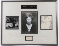 Amelia Earhart 19x24 Custom Matted Photo Display (Phil Sears COA) at PristineAuction.com
