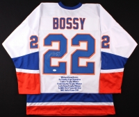 Mike Bossy Signed Islanders Career Highlight Stat Jersey (JSA COA) at PristineAuction.com