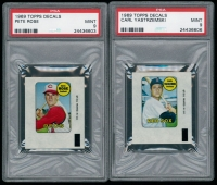 Lot of (2) 1969 Topps Decals with Pete Rose & Carl Yastrzemski (PSA 9) at PristineAuction.com
