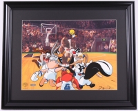 "Michael Jordan Signed LE ""Space Jam"" 19x23 Custom Framed Sericel Display (UDA COA) at PristineAuction.com"