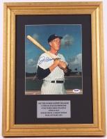 Joe DiMaggio Signed Yankees 14x18 Custom Framed Photo Display (PSA LOA) at PristineAuction.com