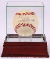 Hank Aaron Signed OAL Baseball with High Quality Display Case (PSA COA) at PristineAuction.com