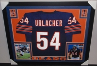 Brian Urlacher Signed Bears 35x43 Custom Framed Jersey (JSA COA) at PristineAuction.com