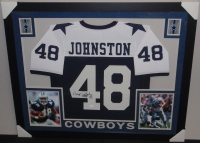 Daryl Johnston Signed Cowboys 35x43 Custom Framed Jersey (JSA COA) at PristineAuction.com