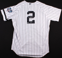 Derek Jeter Signed Yankees Authentic Majestic Jersey with 2000 World Series Patch & Black Armband (Steiner COA & MLB Hologram) at PristineAuction.com