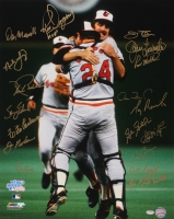 1983 Orioles Team Signed 16x20 With (18) with Jim Palmer, Scott McGregor, Rick Dempsey, Paul Mirabella, Joe Nolan, Tito Landrum, Dan Morogiello, Benny Ayala, (Schwartz COA) at PristineAuction.com