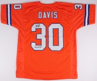 """Terrell Davis Signed Broncos Throwback Jersey Inscribed """"SBXXXII MVP"""" (JSA COA) at PristineAuction.com"""