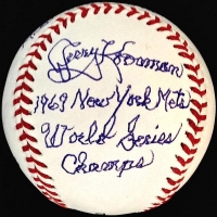"""Jerry Koosman Signed OML """"1969 World Series-Game 5"""" Story Ball with Extensive Inscription (Stallard COA) at PristineAuction.com"""
