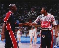 "Magic Johnson Signed Team USA ""Dream Team"" 16x20 Photo With Michael Jordan (PSA COA) at PristineAuction.com"