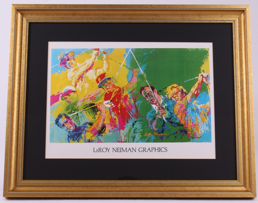 leroy neiman golf legends 19x23 custom framed lithograph display at pristine auction. Black Bedroom Furniture Sets. Home Design Ideas