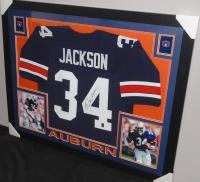 Bo Jackson Signed Auburn 35x43 Custom Framed Jersey (JSA COA & GTSM) at PristineAuction.com