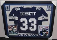Tony Dorsett Signed Cowboys 35x43 Custom Framed Jersey (JSA COA) at PristineAuction.com