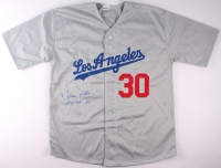 """Maury Wills Signed Dodgers Jersey Inscribed """"MVP NL '62"""" (PA COA) at PristineAuction.com"""