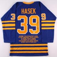 Dominik Hasek Signed Sabres Career Highlight Stat Jersey (JSA COA) at PristineAuction.com