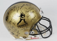 Heisman Trophy Winners Full-Size Authentic Proline Helmet Signed by (21) with Barry Sanders, Tony Dorsett, Earl Campbell, Paul Hornung, Archie Griffin (JSA ALOA) at PristineAuction.com