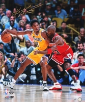 Kobe Bryant Signed Limited Edition Lakers 20x24 Photo vs. Michael Jordan #17/24 (Panini COA) at PristineAuction.com