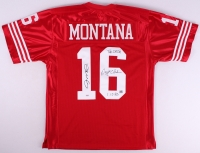 """Joe Montana & Dwight Clark Signed """"The Catch"""" 49ers Jersey With (2) Inscriptions (PSA COA) at PristineAuction.com"""
