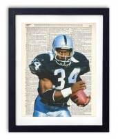 Bo Jackson Raiders Unique Original Antique Dictionary Page Art Print at PristineAuction.com