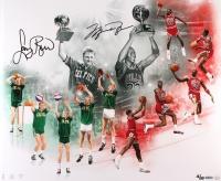 "Michael Jordan & Larry Bird Dual Signed LE ""All Star Saturday Night"" 20x24 Photo (UDA COA) at PristineAuction.com"