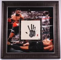 Mike Tyson Signed 36x36 Custom Framed Limited Edition Tegata Original Handprint Display #08/20 (UDA COA) at PristineAuction.com